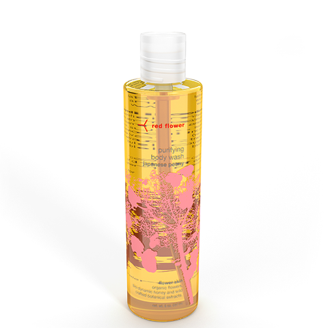 red flower peony body wash
