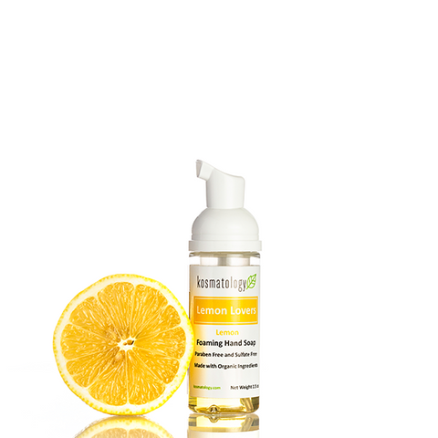 kosmatology lemon hand soap travel