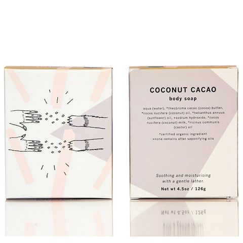 meow meow tweet coconut cacao soap
