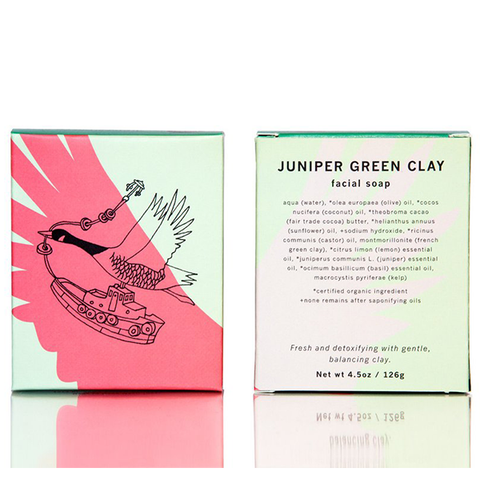 Juniper Green Clay Facial Soap