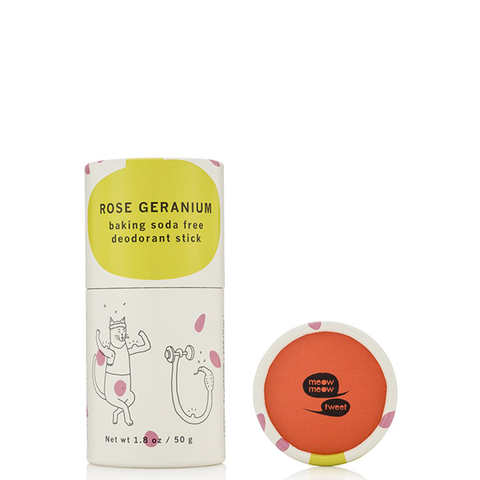 Baking Soda Free Deodorant Stick - Rose Geranium