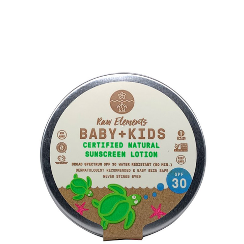 raw elements baby sunscreen tin