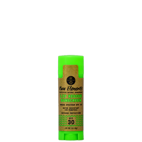 raw elements lip rescue sunscreen