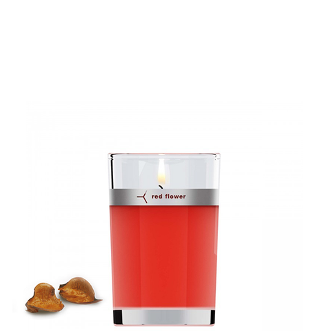 red flower blood orange candle