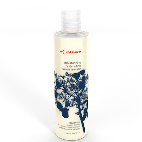 red flower lavender body lotion