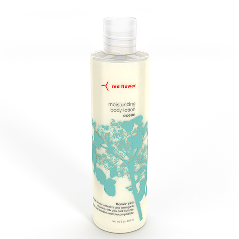 red flower ocean body lotion