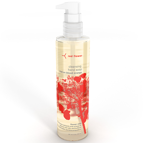 red flower blood orange hand wash
