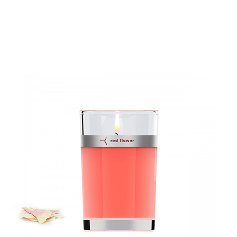 red flower japanese peony candle