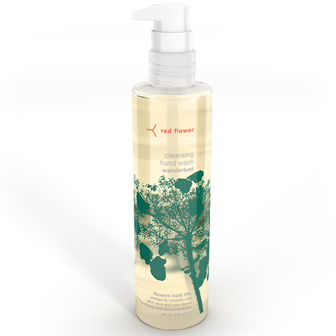 red flower wanderlust hand wash