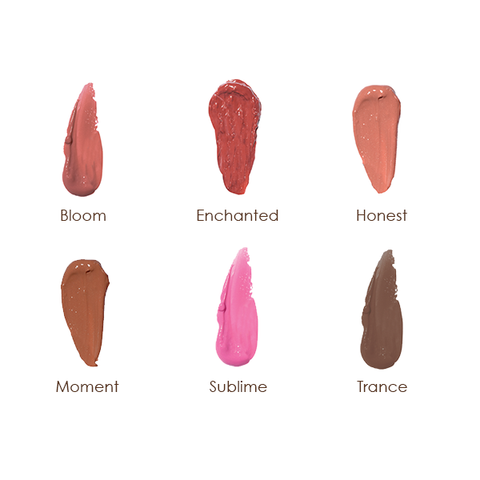 RMS Lip Shine swatches