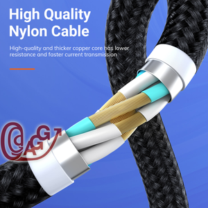 6.6 ft. 5-Pin magnetic cable pack / 1 cable, 3 tips (Micro USB, USB Type-C,  IOS) with tip holder included