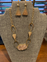 Load image into Gallery viewer, Druzy and Vermeil Mutli Chain Necklace