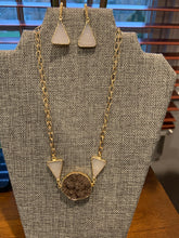 Load image into Gallery viewer, Druzy Trio Necklace with Vermeil Chain
