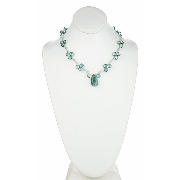 Moss Green Aquamarine & Green Amethyst Necklace