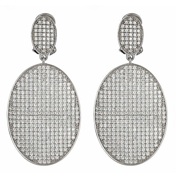 CZ Pave Statement Earrings