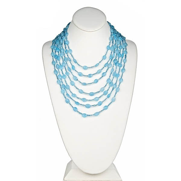 Blue Jade and Aquamarine Lace Necklace
