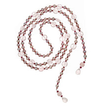 Load image into Gallery viewer, Rose Quartz Coin & Pink Pearl Lariat