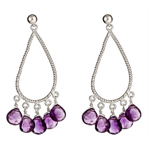 Amethyst Briolle Chandelier Earrings