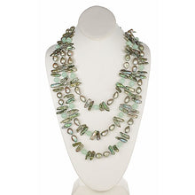 Load image into Gallery viewer, Sea Green Barouque & Biwa Pearl Necklace