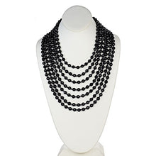 Load image into Gallery viewer, Seven Row Onyx Statement Necklace