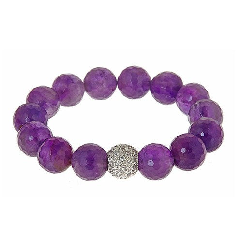 Signature Amethyst and CZ Starburst Bracelet