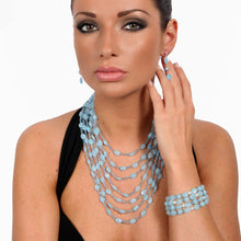 Load image into Gallery viewer, Blue Jade and Aquamarine Lace Necklace