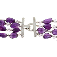 Load image into Gallery viewer, Amethyst and Sterling Silver