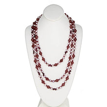 Load image into Gallery viewer, Plum Quartz & Pearl Necklace