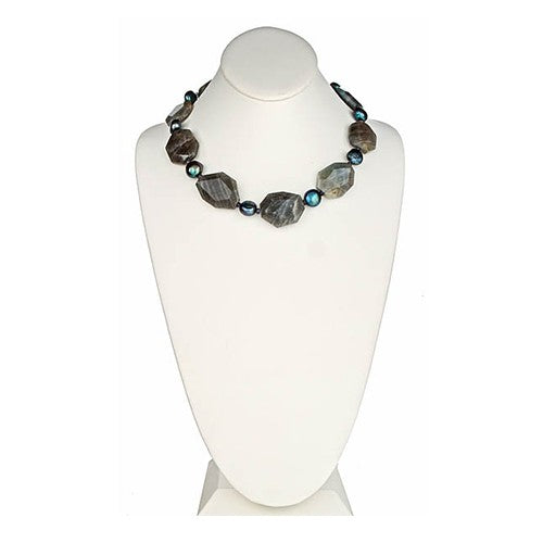 Labradorite & Barouque Pearl Necklace