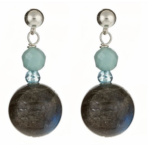Labradorite & Amazonite Earrings