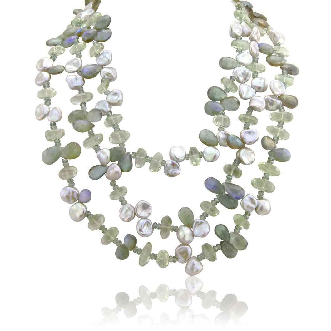 Three Strand Green Amethyst