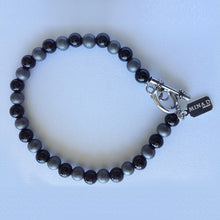 Load image into Gallery viewer, Men's Toggle Onyx & Hematite Bracelet