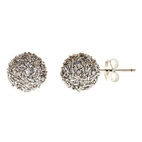 CZ Pave Starburst Earrings