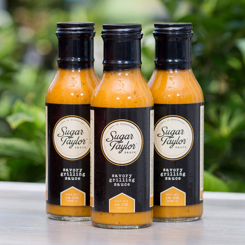Sugar Taylor Sauce - 14 oz. Bottle (Pack of 3)- Bonus Squeeze bottle