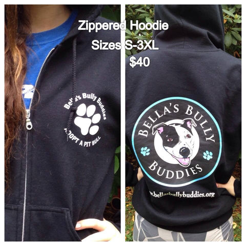"Hoodie ""Bella's Bully Buddies""Zipper"