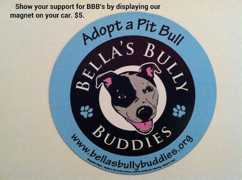 Bella's Bully Buddies Car Magnet