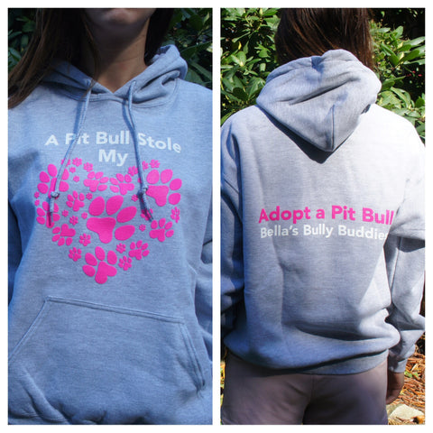"Hoodie ""A Pit Bull Stole My Heart"""