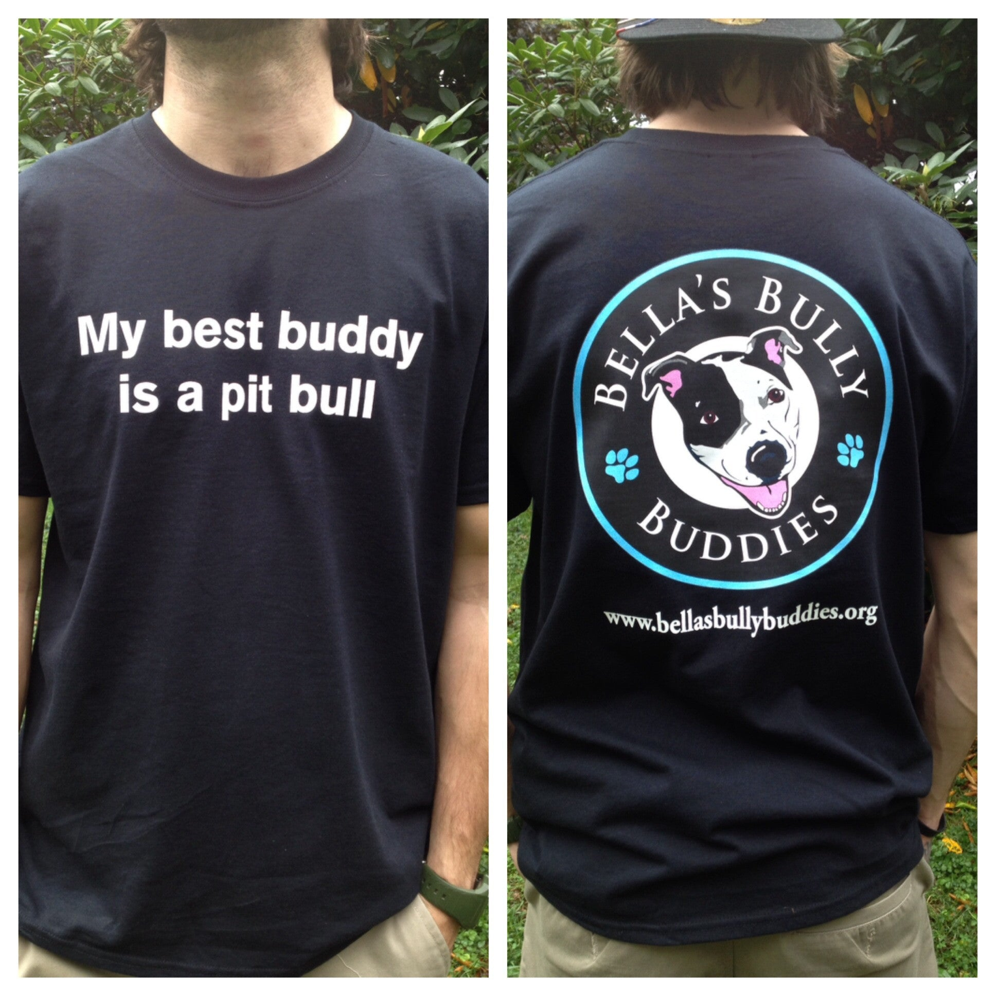 "T-shirt ""My Best Buddy Is A Pit Bull"" Short Sleeve Unisex"