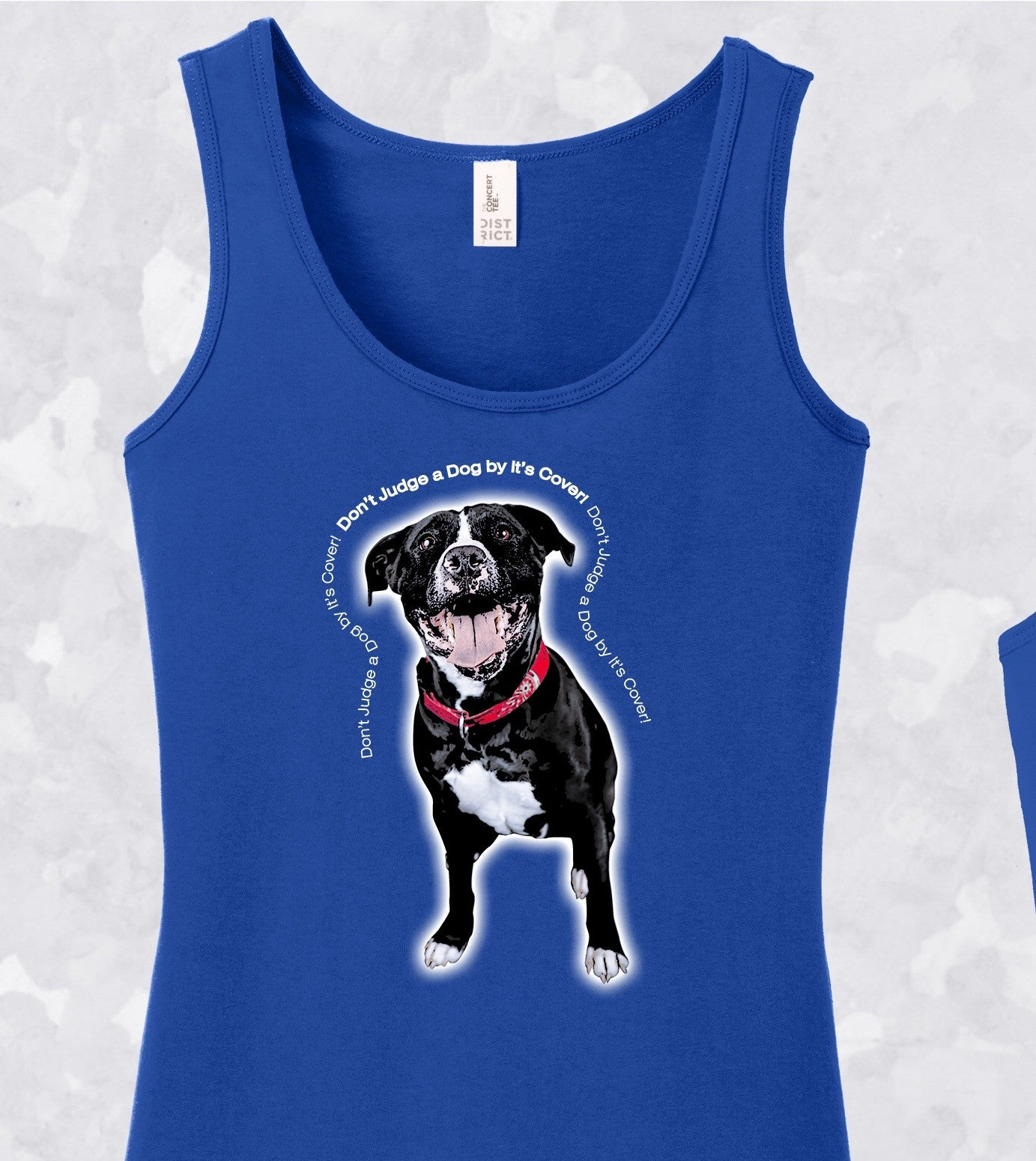 "Tank top ""Don't Judge A Dog By It's  Cover"" Ladies"