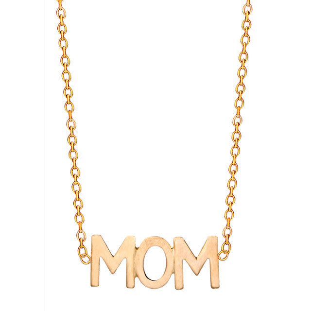 14k Gold MOM Necklace