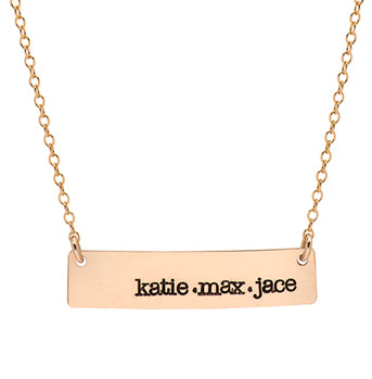 Large Nameplate Necklace - hand stamped