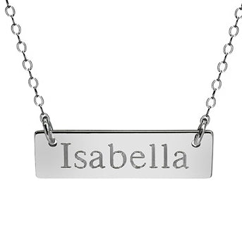 Medium Nameplate Necklace - print font