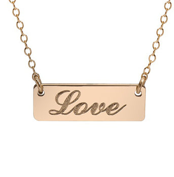 Small Nameplate Necklace - script