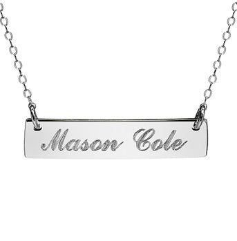 Large Nameplate Necklace - script
