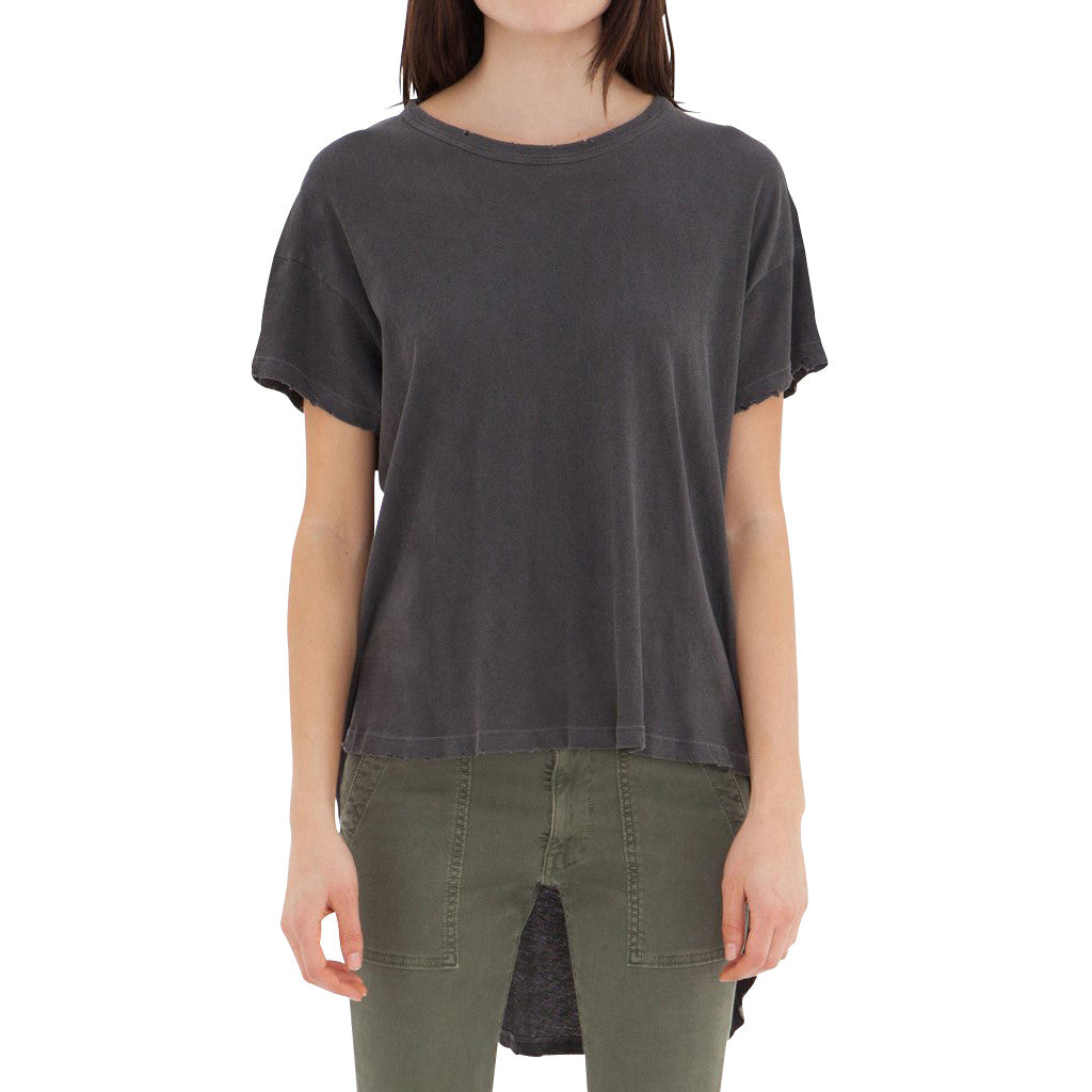 The Shirttail Tee, Washed Black