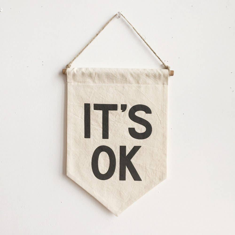 IT'S OK Banner / small, printed