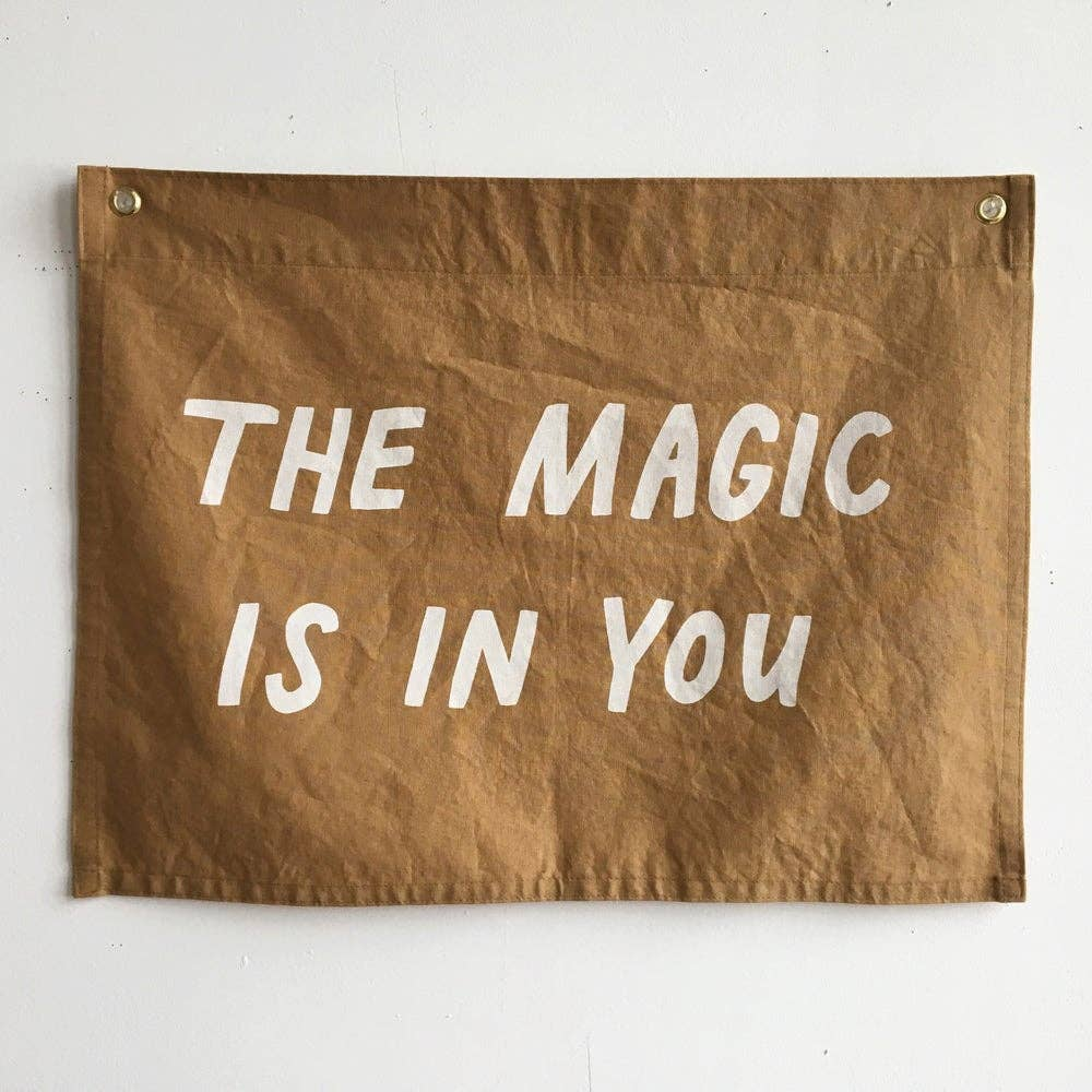 MAGIC Flag / ochre, printed