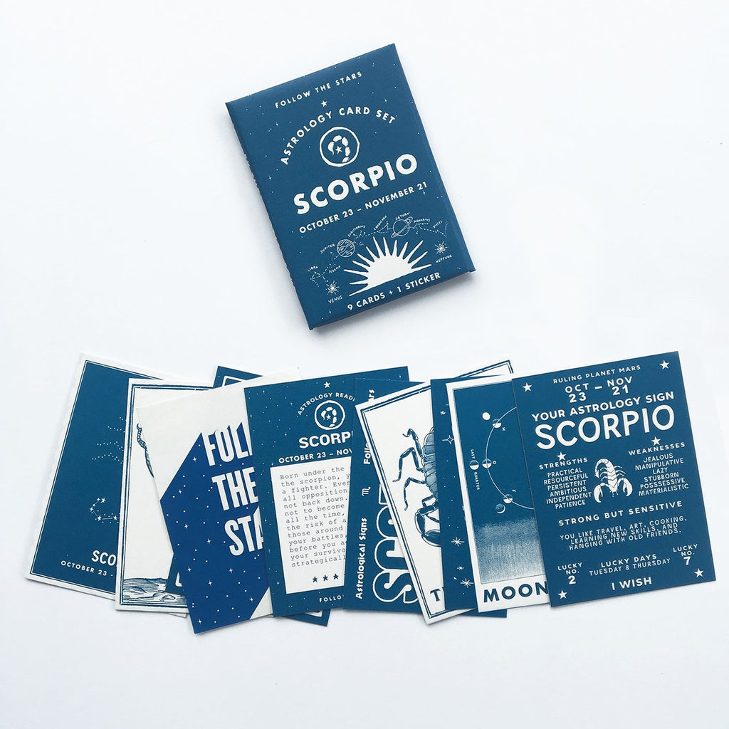 SCORPIO Astrology Card Set (Oct 23 - Nov 21)