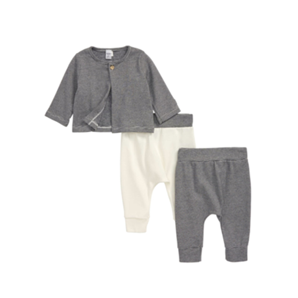 Striped Baby 3 piece set, Cardigan & Pants