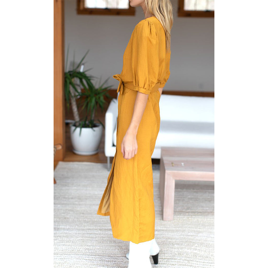 Bea Dress - Marigold Yellow